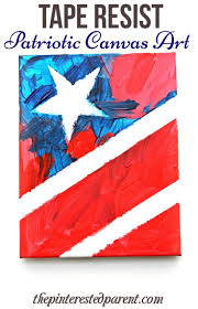 patriotic art for the 4th of july tape resist painting of the
