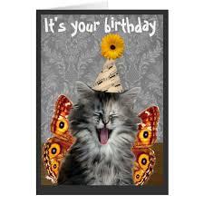 Cat Birthday Cards Funny Cat Birthday Cards Funny Cat Birthday Card Or Invitation