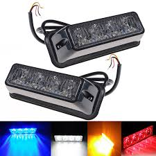 golf cart led strobe lights eonstime 1pcs 4led car emergency beacon light flashing 4w 12v 24v