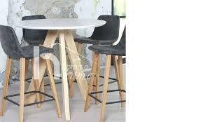 table haute ronde cuisine table ronde haute table haute moderne blanc laquac et chane blanc