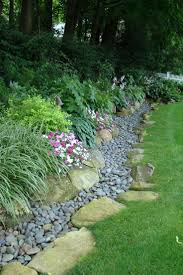 attractive drainage swale landscape projects pinterest