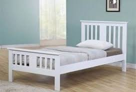 terra solid wood white small double bed frame in hounslow
