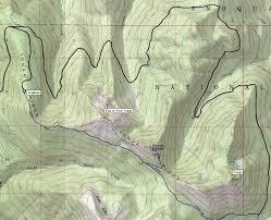 Tonga Map Tonga Ridge Trail Mount Sawyer