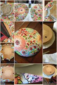 Covering A Seat Cushion How To Recover A Round Bar Stool Cushion Without Piping