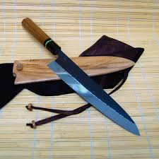 custom japanese kitchen knives tc blades custom made 240 mm gyuto with custom handle and saya