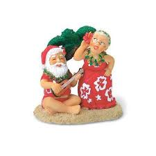 santa ukulele mrs claus ornament hilo hattie the