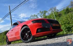 audi a4 matte black audi a4 drift black red mill gwg wheels