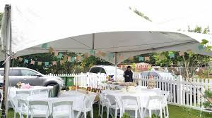 banquet table rentals 20 x 20 white canopy tent white resin folding chairs 60