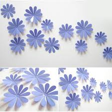 diy 3d flowers wall sticker mirror art decal pvc paper for home diy 3d flowers wall sticker mirror art decal pvc paper for home showcase 12pcs purple one size 29498 kilimall