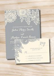 rustic vintage wedding invitations floral lace rustic vintage wedding invitation and response card