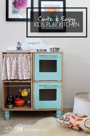 remodelaholic cute u0026 easy kids play kitchen from a cube shelf