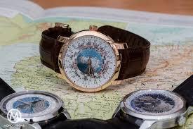 World Map Watch Comparative Review 3 Modern Worldtimer Watches From Vacheron