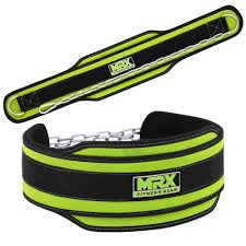new mrx dipping belt for weight lifting training in green color