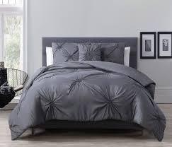 Charcoal Gray Bedroom Set 4 Piece Paige Charcoal Gray Comforter Set