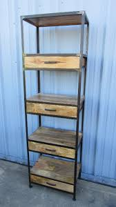 iron and wood bookcase with four drawers nadeau indianapolis