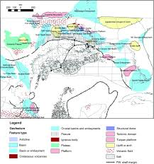 Plateau Of Mexico Map by A Basin Scale Perspective On Cenomanian Turonian Cretaceous