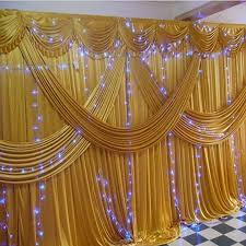 wedding backdrop on stage aliexpress buy gold stage wedding backdrops for wedding