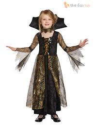 Girls Vampire Costume Halloween Age 4 12 Girls Vampire Costume Vampiress Fancy Dress Halloween