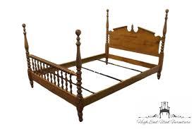 High End Canopy Bedroom Sets High End Used Furniture Ethan Allen Heirloom Nutmeg Maple Full