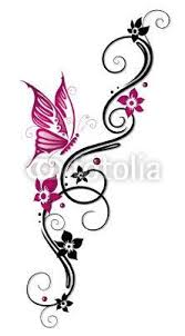 Flowers On Vines Tattoo Designs - marketplace tattoo little butterfly and flower vine tattoo 2764
