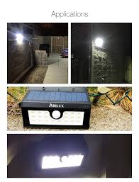 Solar Powered Motion Sensor Outdoor Light by Arilux Al Sl02 Wireless Solar Powered 20 Led Waterproof Pir