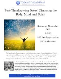 what is thanksgiving means thanksgiving detox page 1 yoga at the ashram the baba siri