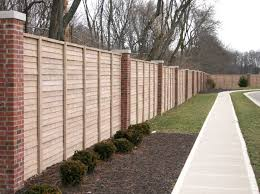 Cool Brick Wood Fence Design - Brick wall fence designs