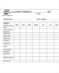 Bathroom Cleaning Checklist Template 13 Restaurant Cleaning Schedule Templates 6 Free Word Pdf