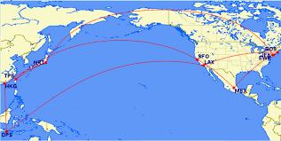 Jfk Map Tonei Flight Map Option 1 Mex Sfo Tpe Nrt Hkg Nrt Jfk Nrt Hkg Dps
