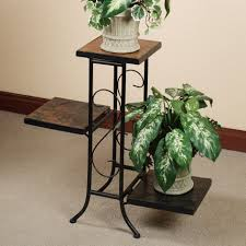 Wrought Iron Patio Furniture Glides by Wrought Iron Outdoor Pot Stand White Finish Tricycle Plant Stand