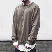 yeezy sweater discount streetwear kanye yeezy season fear of god pullover