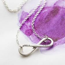 infinity necklace with name personalised infinity necklace by posh totty designs