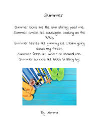 summer holiday planner template summer poems