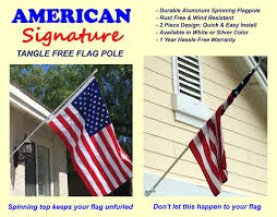 Who Invented The United States Flag Amazon Com Flag Pole 5 Ft Heavy Duty Aluminum Spinning Tangle