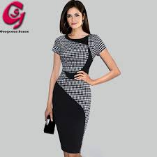 aliexpress com buy fashion women summer plaid dress patchwork