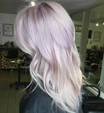 shag haircut brown hair with lavender grey streaks a touch of lilac for this blonde beauty magical hair colors