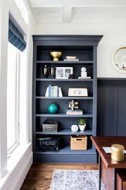 Home Office Bookshelves by Foothill Drive Project Office Benjamin Moore Charcoal And Navy