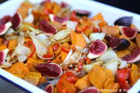 cuisiner des figues fraiches patates douces rôties et figues fraîches