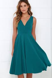 sleeveless dress lovely teal blue dress midi dress sleeveless dress 49 00