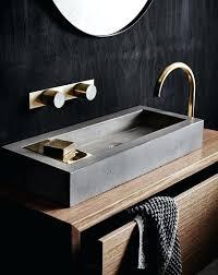 how to build a concrete sink vanities concrete sink vanity a wooden vanity with a concrete sink