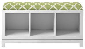 Cushioned Storage Bench Caign Storage Bench Contemporary Accent And Storage Benches