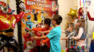 party city halloween games throw a megaforce power rangers party youtube