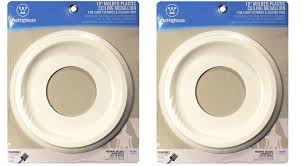 Medallion For Light Fixture Westinghouse 7703700 9 3 4 Inch Smooth White Finish