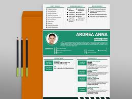 matebe creative cv template 11 awesome art in green 2