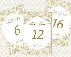 free table number templates wedding table numbers template shatterlion info