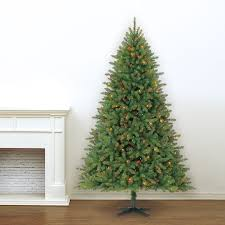 7 5 ft pre lit green hartford full pine artificial christmas tree