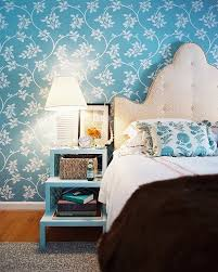 Nightstand Ideas by Bedrooms Cute Bedroom Idea With Blue Floral Wall Decor Andk