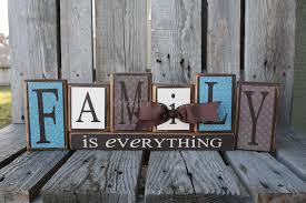 family is everything home wood block set gift seasonal wedding