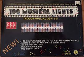 musical christmas lights 100 musical christmas lights indoor set plays 8 christmas carols