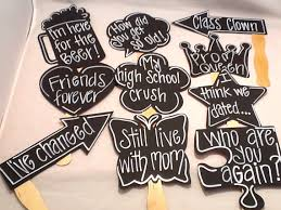 50th high school reunion decorations ten reunion chalk props chalk props chalkboard props for